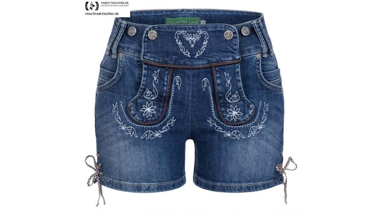 Finest-Trachten.de  Jeans-Lederhose Christl Blau von Country Line ... 08146739c7