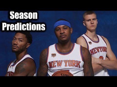 KNICKS 2016-17 NBA Season Predictions!!- ROSE, MELO, PorzingGOD