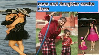 Mom and daughter combo dresses
