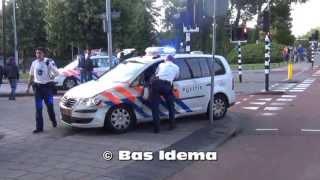 Twee politiewagens betrokken bij ongeval in Haarlem-Noord