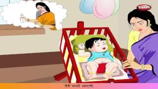 Hindi Rhymes for Kids HD | So Jaa Baby | Hindi Balgeet | Hindi Songs For Children
