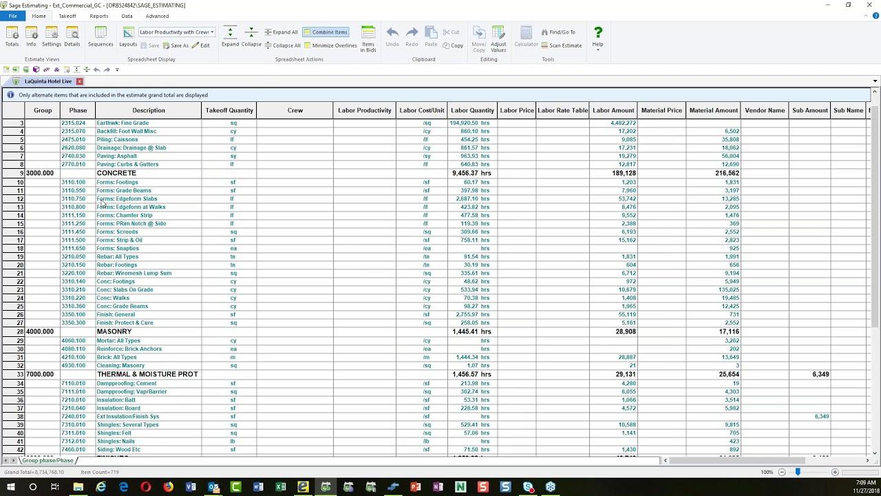 Handling Revisions in Sage Estimating