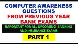 computer awareness questions from previous year bank exams part 1