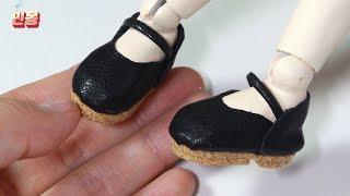 바느질 없이 인형 신발 만들기, 구체관절인형 가죽구두 …