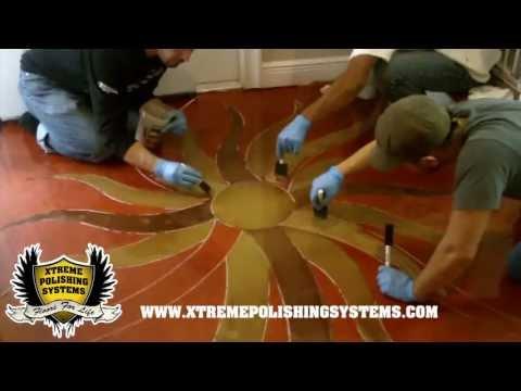 DIY Epoxy Floor w/ Logo Application