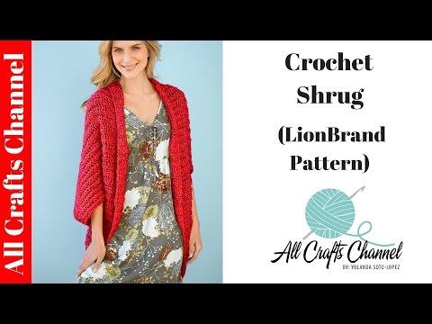 How To Crochet Shrug Lion Brand Pattern