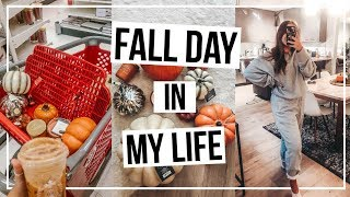 FALL DAY IN MY LIFE �fall shopping, decorating my house, & work day