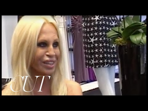 Donatella Versace Interview at the Versace Store