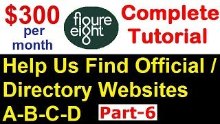 Figure Eight Part-6 | Help Us Find Official / Directory Websites (A-B-C-D), [ Hindi ]