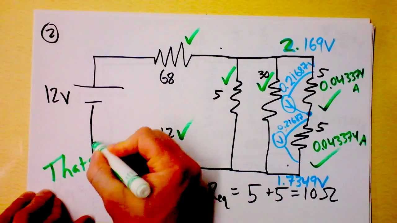 Parallel And Series Resistor Circuit Analysis Worked Example Using Thorough Provides A Great Introduction To Electric Circuits Youtube Premium