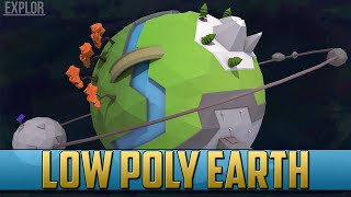 Low Poly Planet Earth V2.0 | Cinema 4D Speed Art
