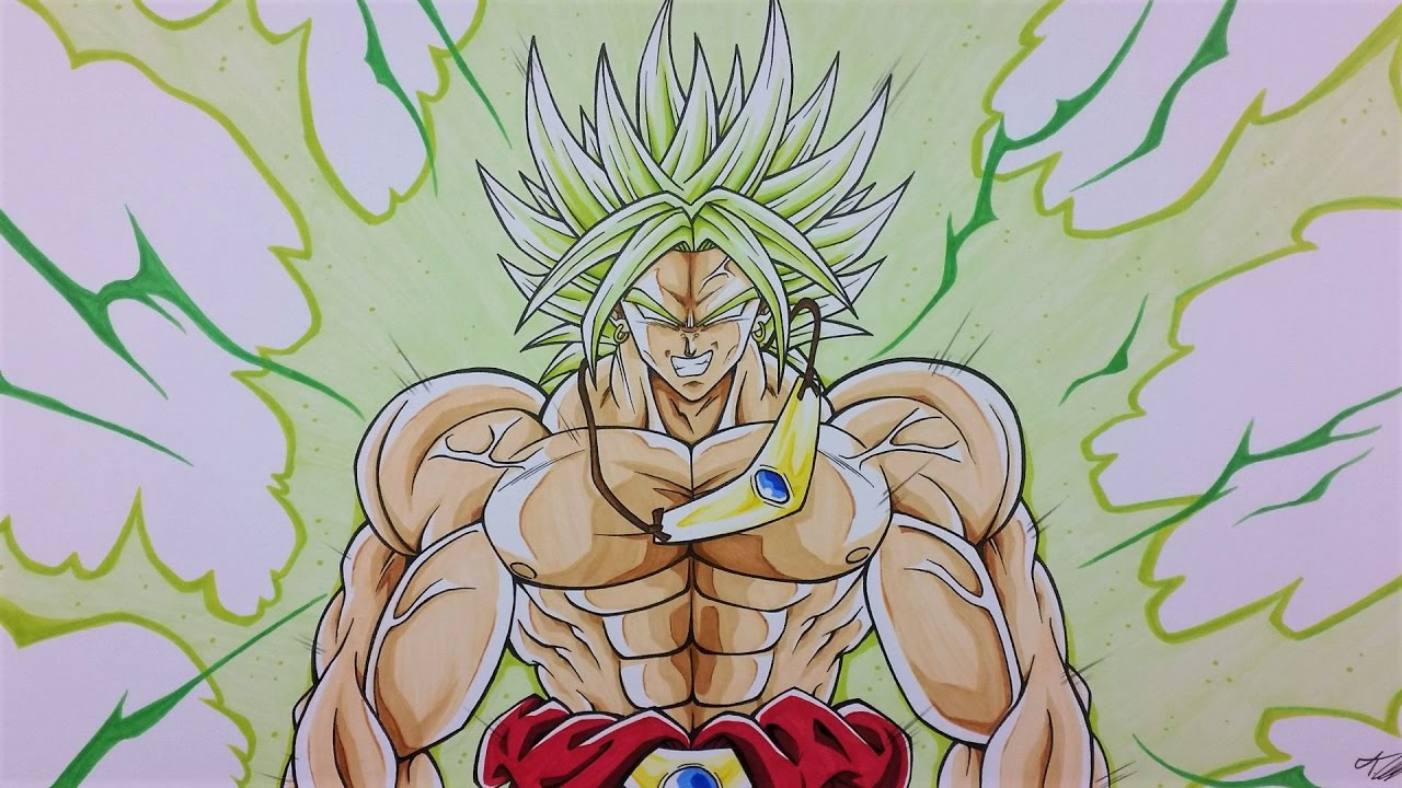 Drawing Broly The Legendary Super Saiyan Youtube