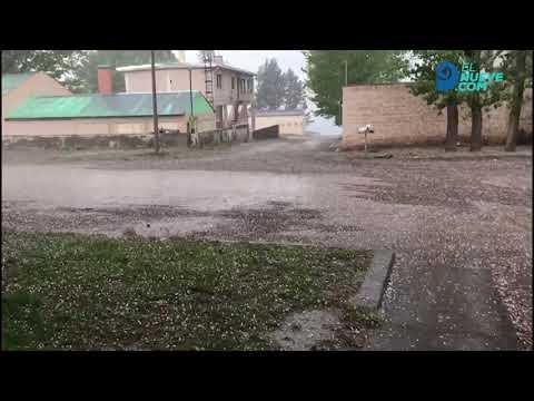 Fuerte tormenta de granizo en el sur provincial