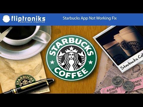 starbucks app not working