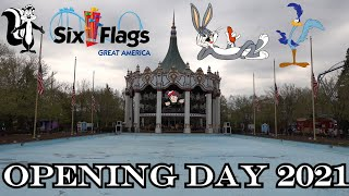 Six Flags Great America Opening Day 2021