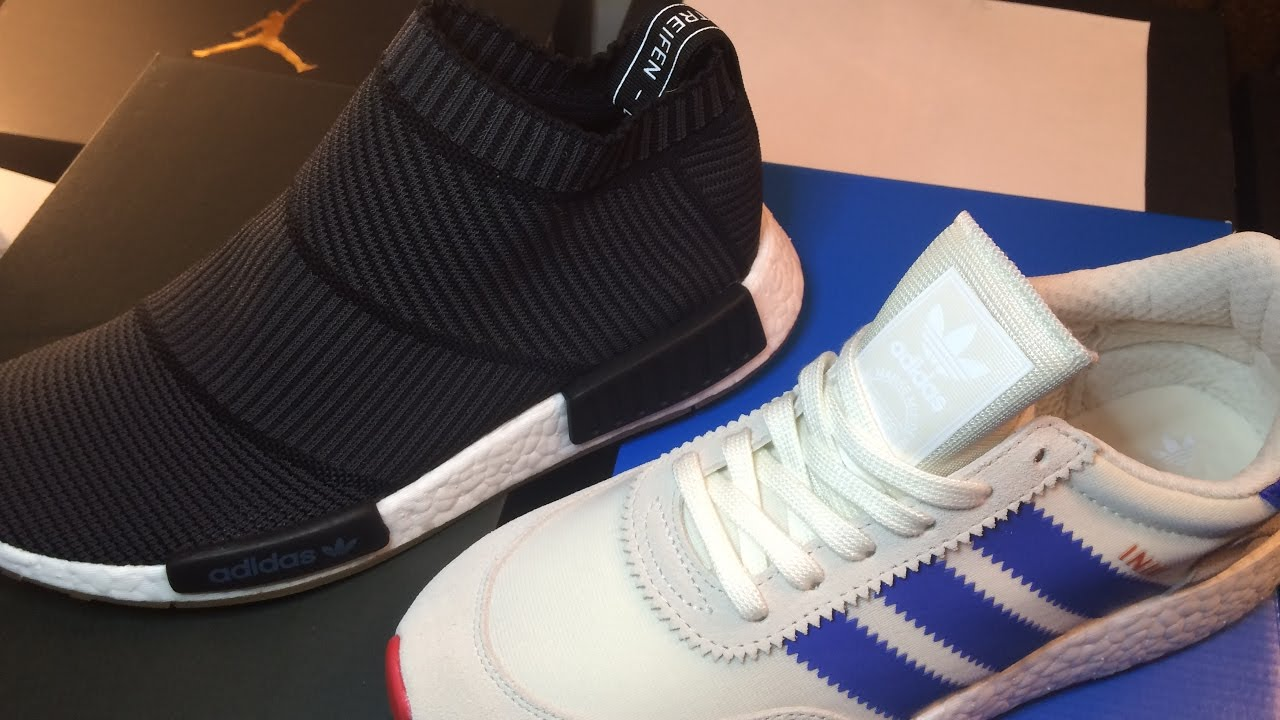 bb752ef6cfe8 Adidas CS1 Nmd Gum Pack Blk   Adidas Iniki Creme Blue(Chance to Win  (Both)For 10 )10  Raffle Size 8