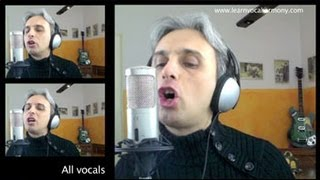 How to sing Magical Mystery Tour The Beatles vocal harmony tutorial video