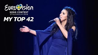 Eurovision 2016   My Top 42 (Two Years Later)
