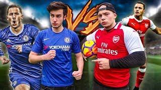 CHELSEA (HAZARD) VS ARSENAL (SANCHEZ) FUßBALL CHALLENGE!!