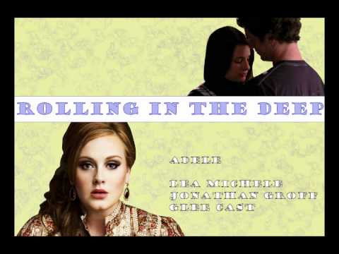 Rolling in the deep - Adele & Glee Cast ft. Jonathan Groff - Compilation