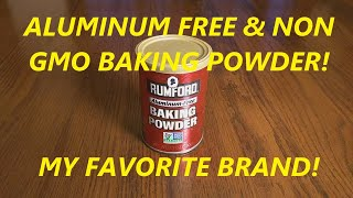 Rumford Aluminum Free Baking Powder, 8.1-Ounce Canisters