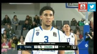 Liangelo and Lamelo Ball Pro Debut Highlights From Lithuania BBB Challenge (Repost)