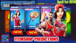 April 1st Fortnite Itemshop Predictions *Will The Basket Ball Skins Return*?