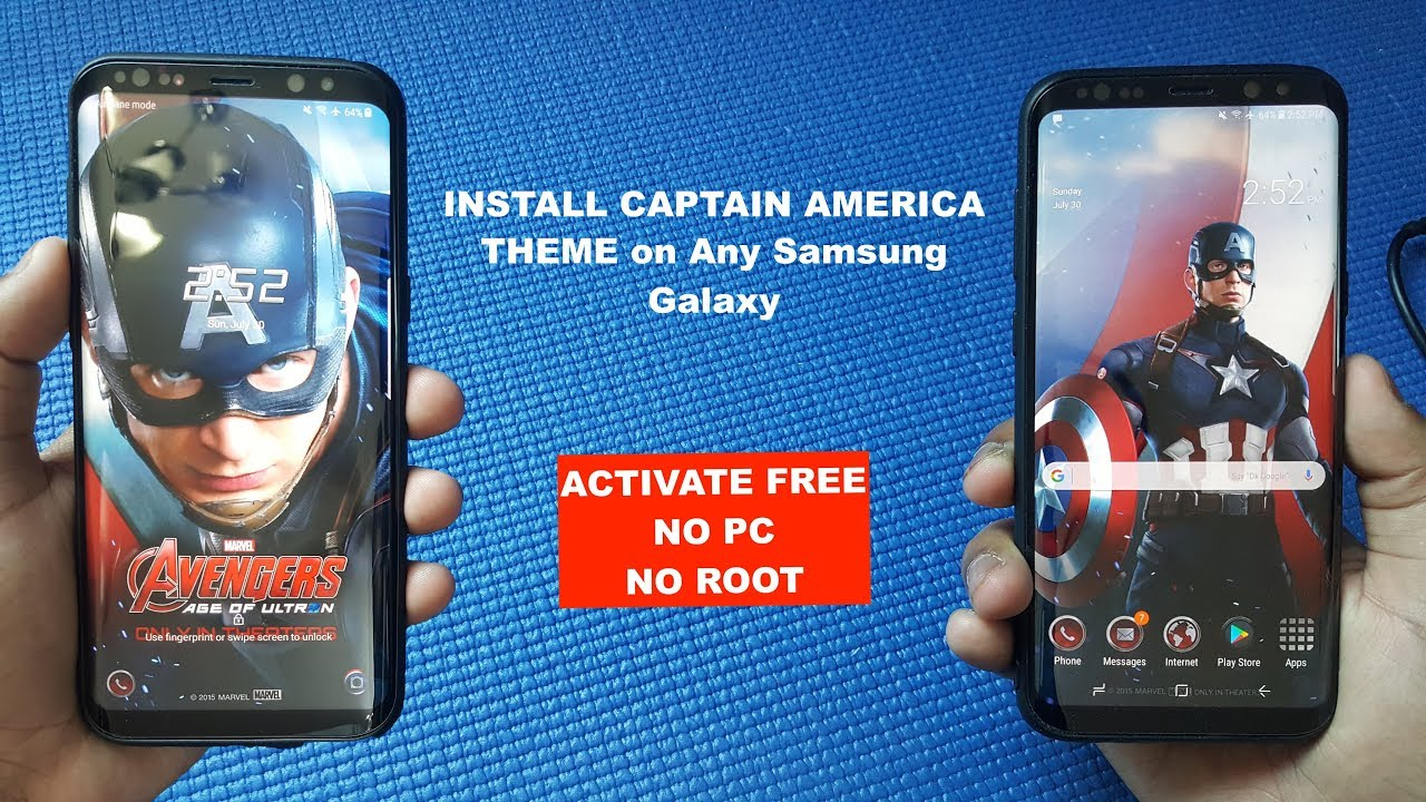 Download Captain America Theme For Samsung Galaxy S8, S8 Plus