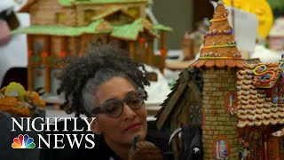 Gingerbread Artists Construct 100% Edible Houses At The NGH Competition | NBC Nightly News