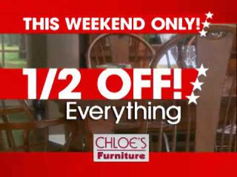 Chloe 39 s furniture labor day sales event youtube for Labor day weekend furniture sales