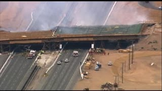 LA Bridge Collapse Caught on Tape