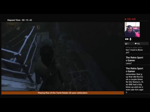 Playing  Rise of the Tomb Raider 20 year celebration |