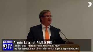 """Armin Laschet (CDU) zum Tag der Heimat 2015: """"Vertreibungen sind Unrecht – gestern wie heute"""""""