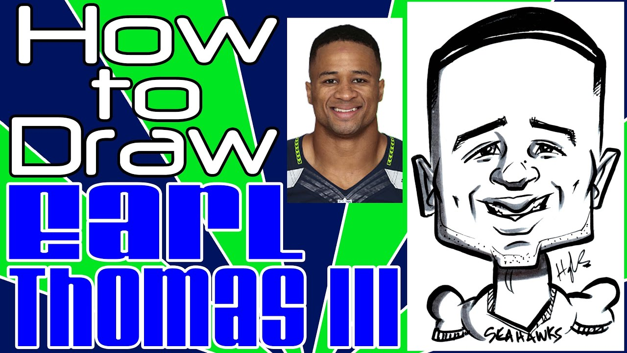 how to draw a quick caricature earl thomas iii youtube