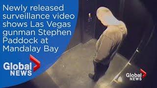 Newly released video shows Las Vegas gunman Stephen Paddock at Mandalay Bay