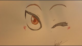 How I draw anime windy eye.