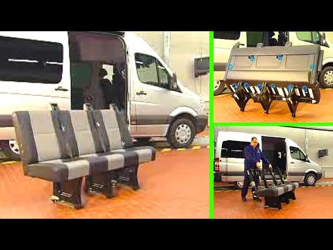 Mercedes Benz Sprinter | Remove/install upholstery of passenger bench seat