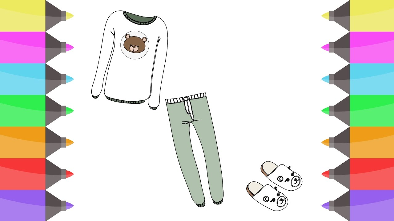 T shirt coloring pages - Colours For Kids Sweet Shirts Pants Coloring Pages L How To T Shirts To Learn Colors