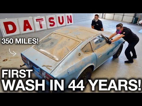First Wash in 44 years! Barn Find Datsun 280z with only 350 Original Miles - Видео онлайн
