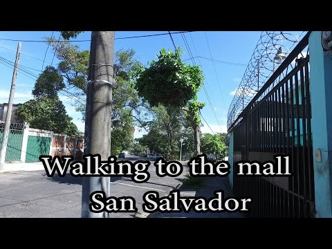 San Salvador, El Salvador - Walking to the Mall