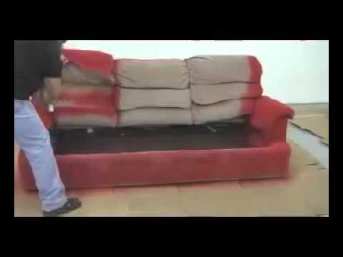 how to paint a sofa with fabric spray paint youtube