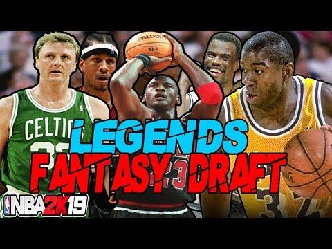 LEGENDS ONLY FANTASY DRAFT REBUILDING CHALLENGE IN NBA 2K19   8 MVPS!