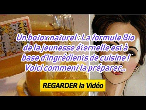 Un botox naturel : La formule Bio de la jeunesse éternelle est à base d'ingrédients de cuisine !