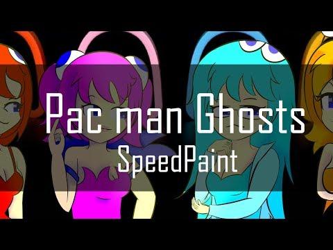 [SpeedPaint] Pac Man Ghosts