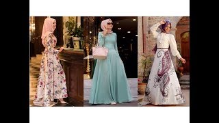 Sezonun En Güzel 50 Tesettür Elbise Modeli