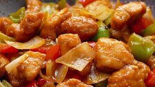 Sweet and Sour Chicken CHINESE Style - Easy and fast recipes