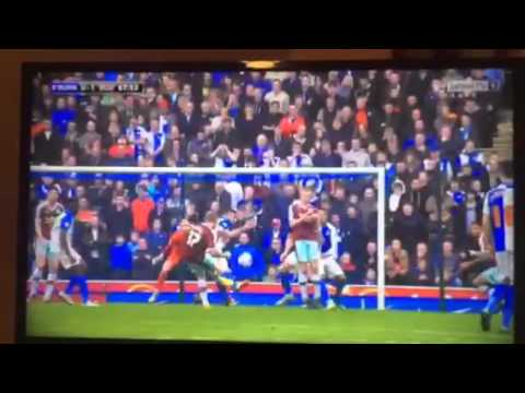 Arfield Goal - Blackburn Rovers vs Burnley 24/10/2015
