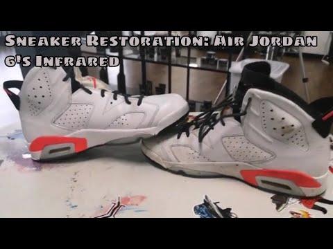 Sneaker Restoration: Jordan 6 Infrared