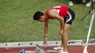 Zaki Sapari, 400m hurdles men final (LONGER VERSION) - SEA Games 2011