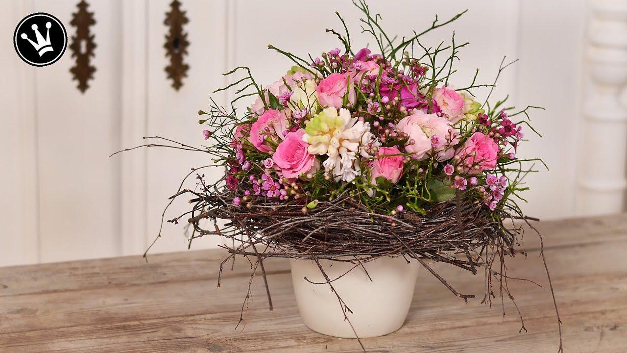 diy fr hlingsdeko valentinstag geschenk strau wie vom floristen ganz einfach selber. Black Bedroom Furniture Sets. Home Design Ideas
